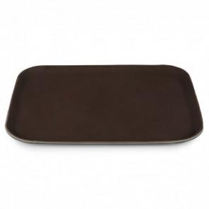Поднос прямоугольный черный, коричневый 50х35 см 1 шт.
