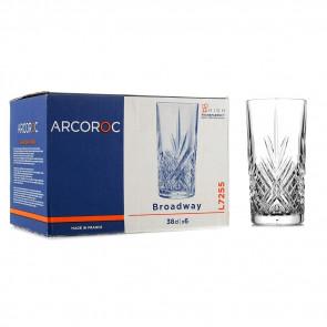Набор стаканов Arcoroc Broadway 380 мл  6 шт.