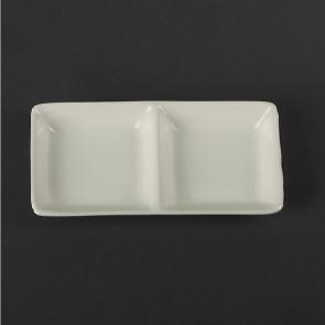 Тарелка прямоугольная с двумя секциями 290мм